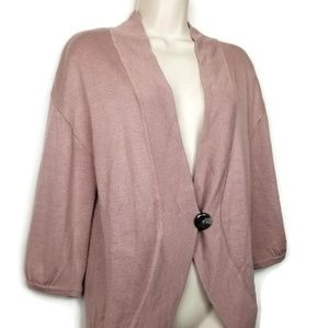 Ann Taylor | Dusty Rose 3/4 Sleeve Cardigan Medium